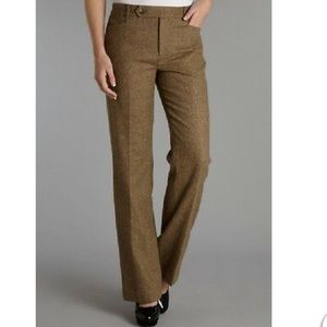 Ralph Lauren Adelle Trousers Tan & Cream Sz. 14